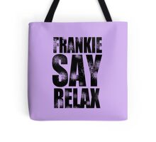FRANKIE SAY RELAX T-Shirt Funny Retro Soft GOES TO HOLLYWOOD 80s Music Tee Tote Bag