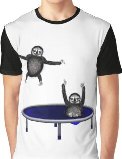 trampolining sloths Graphic T-Shirt