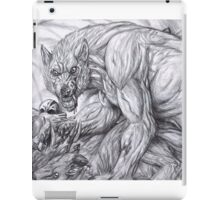 Werewolf - The deerkiller (bw) iPad Case/Skin