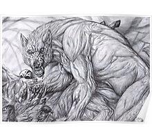 Werewolf - The deerkiller (bw) Poster