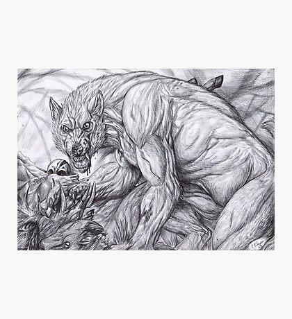 Werewolf - The deerkiller (bw) Photographic Print