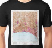USGS TOPO Map California CA Topanga 295491 1952 24000 geo Unisex T-Shirt