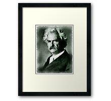 Mark Twain Author Framed Print