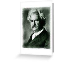 Mark Twain Author Greeting Card