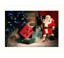 Christmas Scene. Greeting card. Art Print