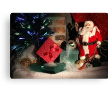 Christmas Scene. Greeting card. Canvas Print