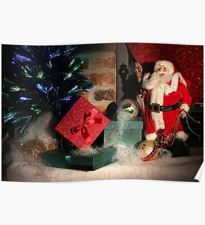 Christmas Scene. Greeting card. Poster