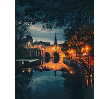 Bridge by night.  Photographic Print
