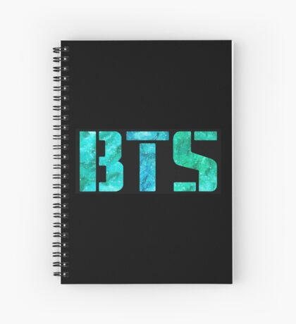 Turquoise BTS Spiral Notebook