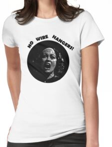 NO WIRE HANGERS! MOMMIE DEAREST Womens Fitted T-Shirt