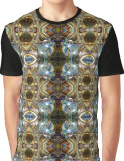 Blue Gold Psychedelic Abstract Portal Graphic T-Shirt