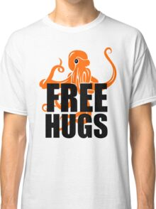 FREE HUGS TSHIRT Funny Humor TEE PEACE AND LOVE Big Bold Hippie TRENDY PARTY Classic T-Shirt