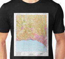 USGS TOPO Map California CA Topanga 300901 1952 24000 geo Unisex T-Shirt