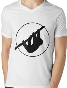Sloth Silhouette Mens V-Neck T-Shirt