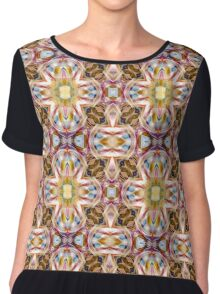 Abstract Sun Festival Psychedelic Chiffon Top