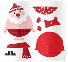 Cute happy Santa, christmas costume / creative Gift for Kids Poster
