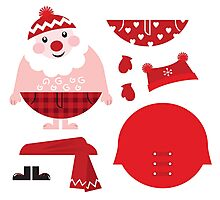 Cute happy Santa, christmas costume / creative Gift for Kids Photographic Print