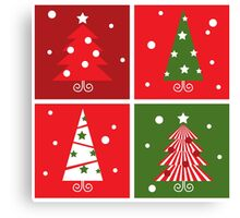 Christmas Trees design blocks icons Canvas Print