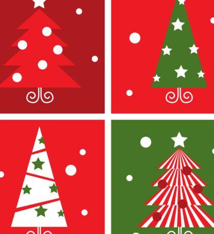 Christmas Trees design blocks icons Sticker