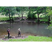 Fly Fishing at Upperdale Photographic Print