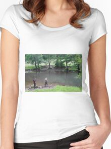 Fly Fishing at Upperdale Women's Fitted Scoop T-Shirt
