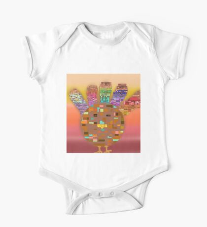 Stained Glass Turkey One Piece - Short Sleeve