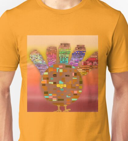Stained Glass Turkey Unisex T-Shirt