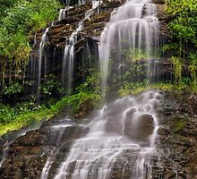Cascading Cathedral Falls by Kenneth Keifer