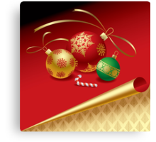 Christmas & New-Year's greeting card Canvas Print