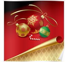 Christmas & New-Year's greeting card Poster