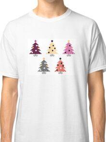 Christmas Trees collection : geometric set Classic T-Shirt