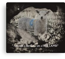 I am not a number! Canvas Print