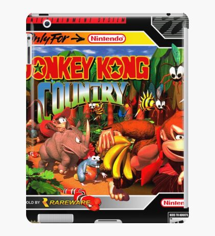 Donkey Kong Country Poster iPad Case/Skin