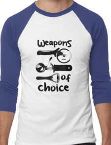 Weapons of choice - Black Men's Baseball ¾ T-Shirt