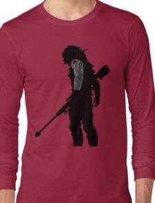 winter soldier silhouette Long Sleeve T-Shirt