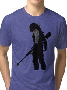 winter soldier silhouette Tri-blend T-Shirt