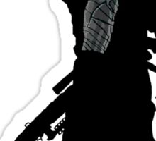 winter soldier silhouette Sticker