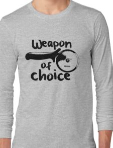 Weapons of choice - Pizza - Black Long Sleeve T-Shirt