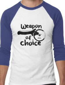 Weapons of choice - Pizza - Black Men's Baseball ¾ T-Shirt