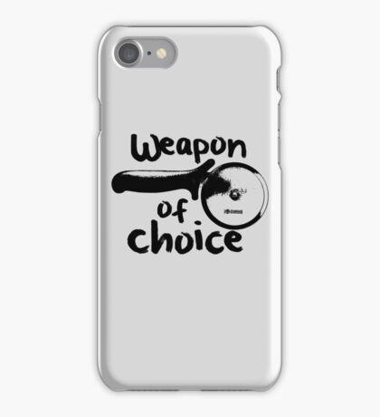 Weapons of choice - Pizza - Black iPhone Case/Skin