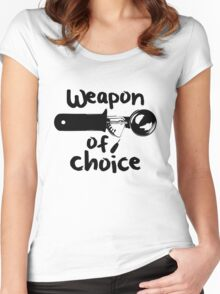 Weapons of choice - Ice Cream - Black Women's Fitted Scoop T-Shirt