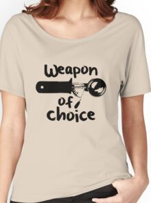 Weapons of choice - Ice Cream - Black Women's Relaxed Fit T-Shirt