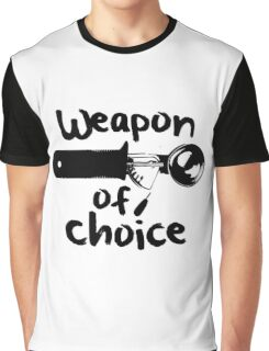 Weapons of choice - Ice Cream - Black Graphic T-Shirt