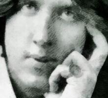 Oscar Wilde, playwright and author Sticker