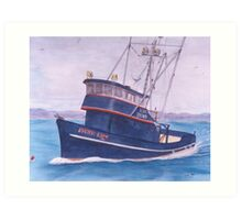 PACIIC LADY Crab Boat Cathy Peek Nautical Art Art Print