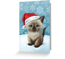Cataclysm - Siamese Kitten (Christmas Edition) Greeting Card