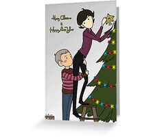 Decorating the Christmas tree Greeting Card