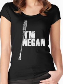 Negan - white Women's Fitted Scoop T-Shirt