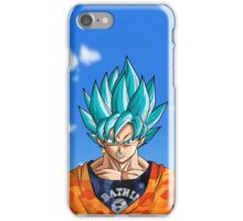 Super Saiyan Blue BAPE God Goku - Silver Grill iPhone Case/Skin