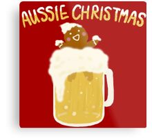 Aussie Christmas - Beer Metal Print